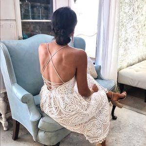 ChicWish Lace Up Dress